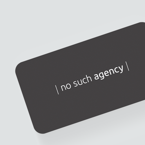 WOYE design til No Such Agency