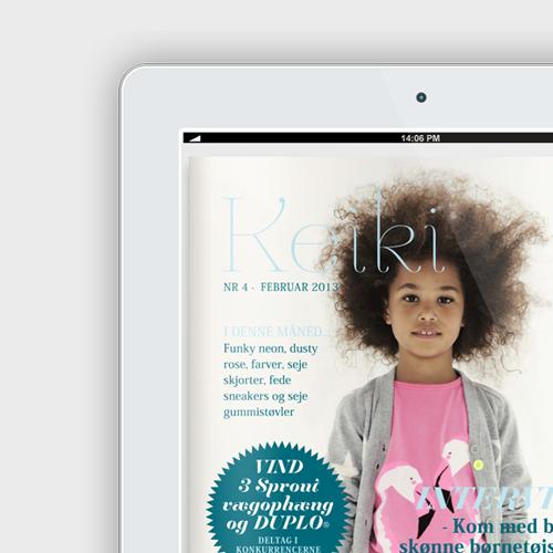 Woye design af hjemmeside og magasin for Keiki