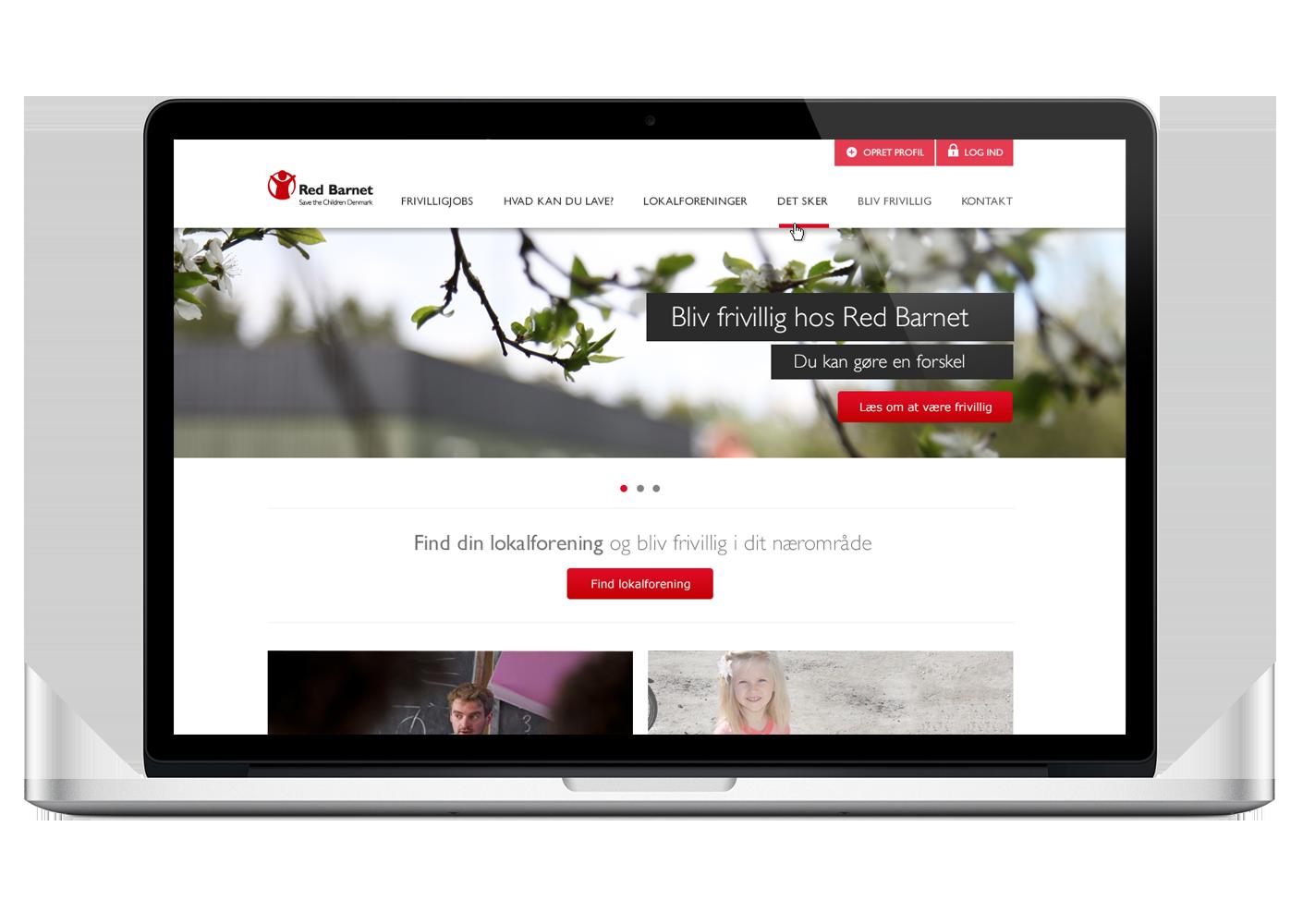 WOYE Webdesign til Red Barnets Frivillignet
