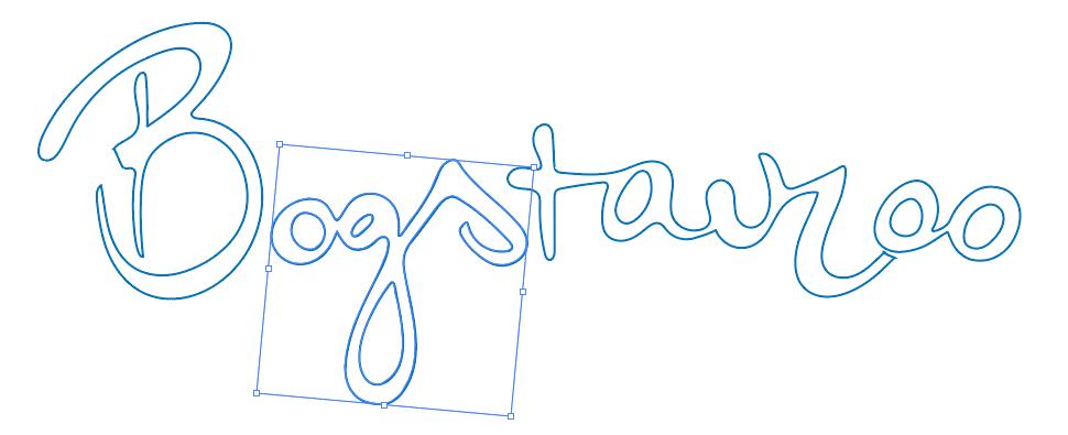 Bogstavzoo logo i outline hos Woye