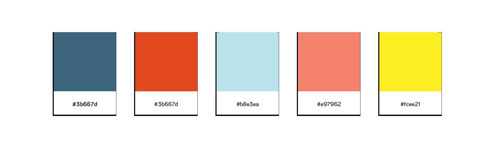 Farvevalg til webdesign til Stofbanditten