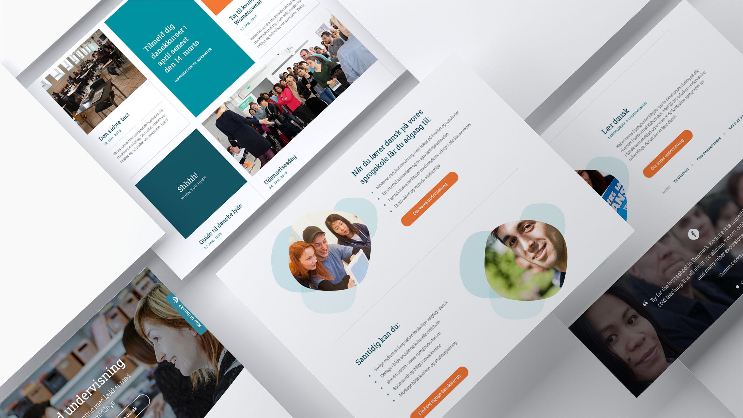 Webdesign til Københavns Sprogcenter | WOYE Design