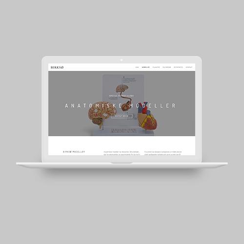 Woye webdesign af hjemmeside og logo til Birksø