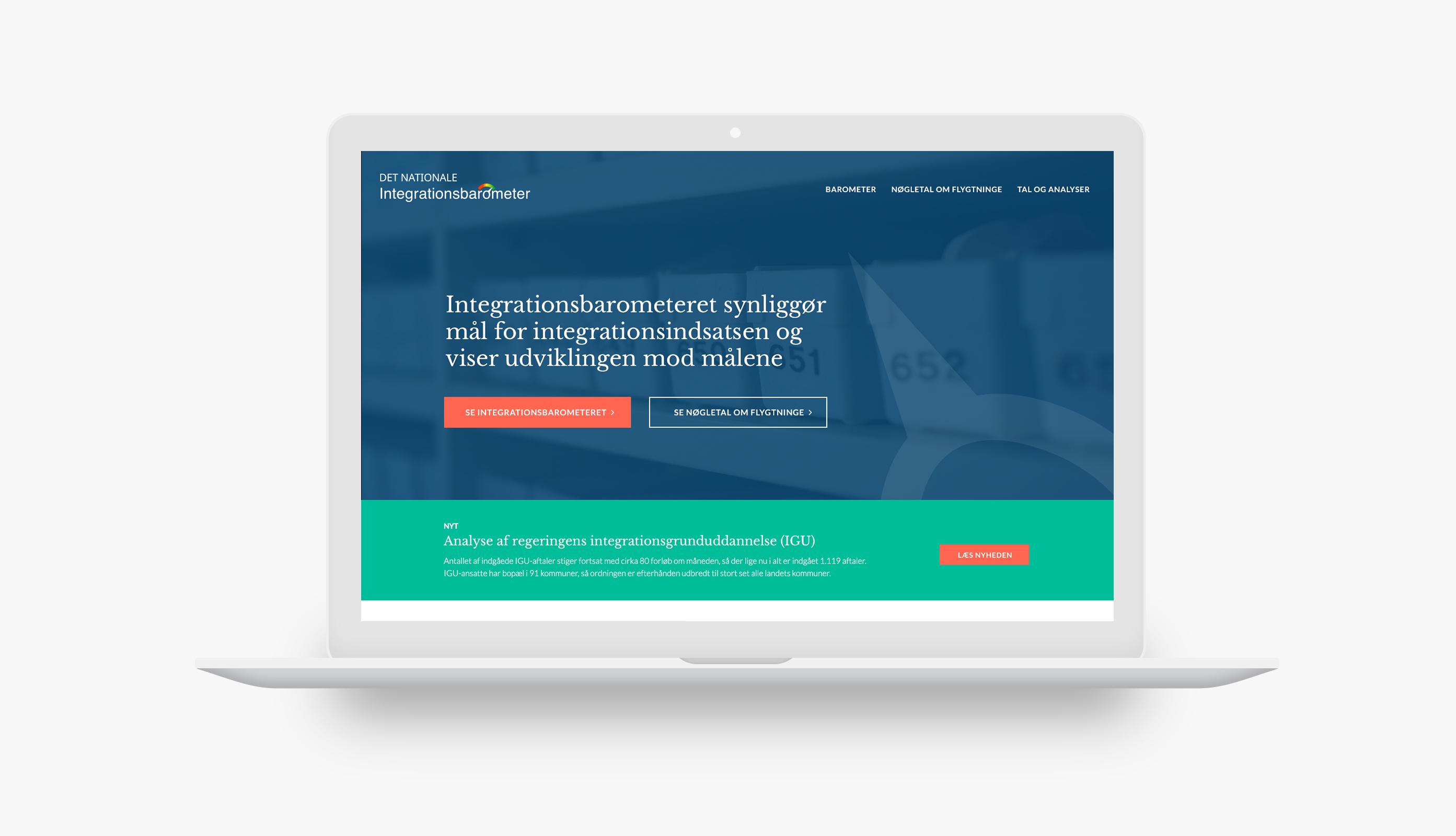 Redesign af hjemmeside for Integrationsbarometer.dk