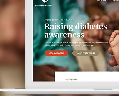 Webdesign til World Diabetes Foundation I WOYE Design