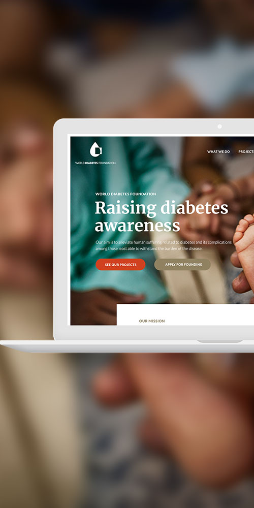 Webdesign til World Diabetes Foundation I WOYE Design