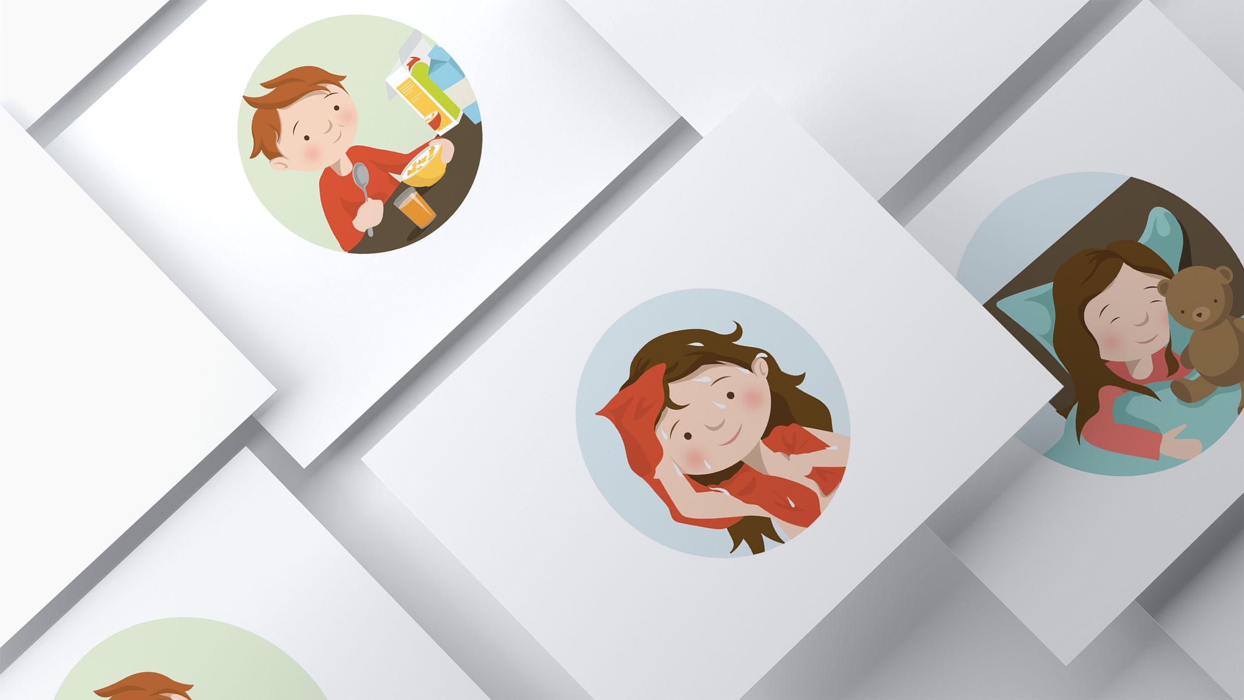Illustration, logo og webdesign af WOYE, for Pictoboards