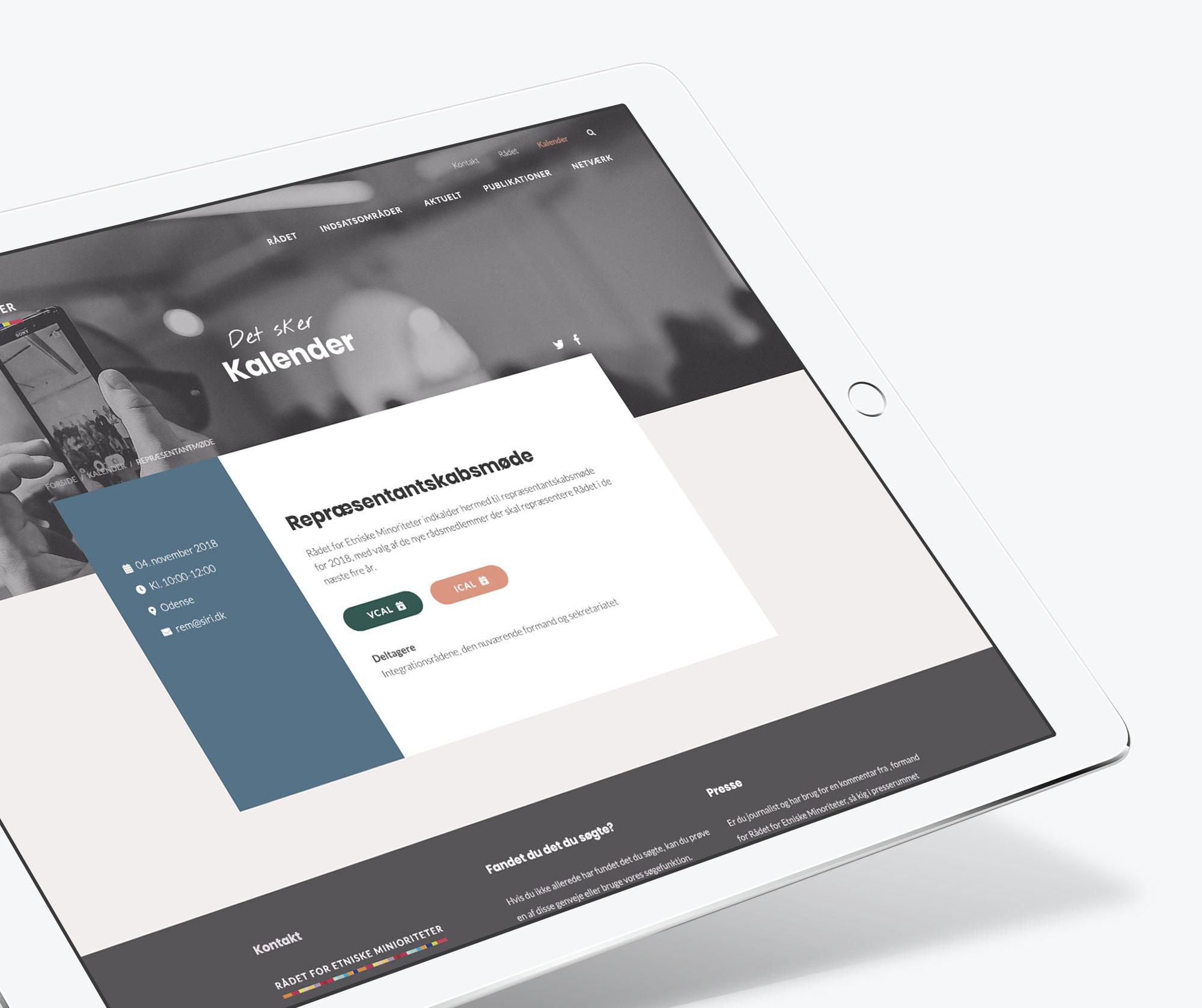 Website redesign af WOYE for Rådet for Etniske minioriteter