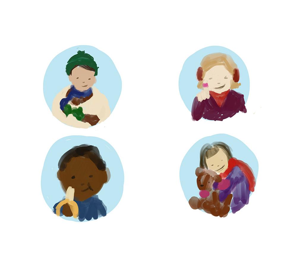 Illustrationer af WOYE for Red Barnet